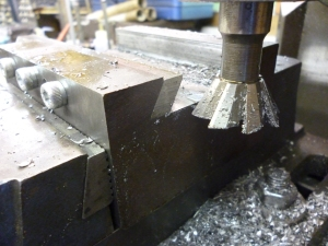 Milling the second side of the gib - 705