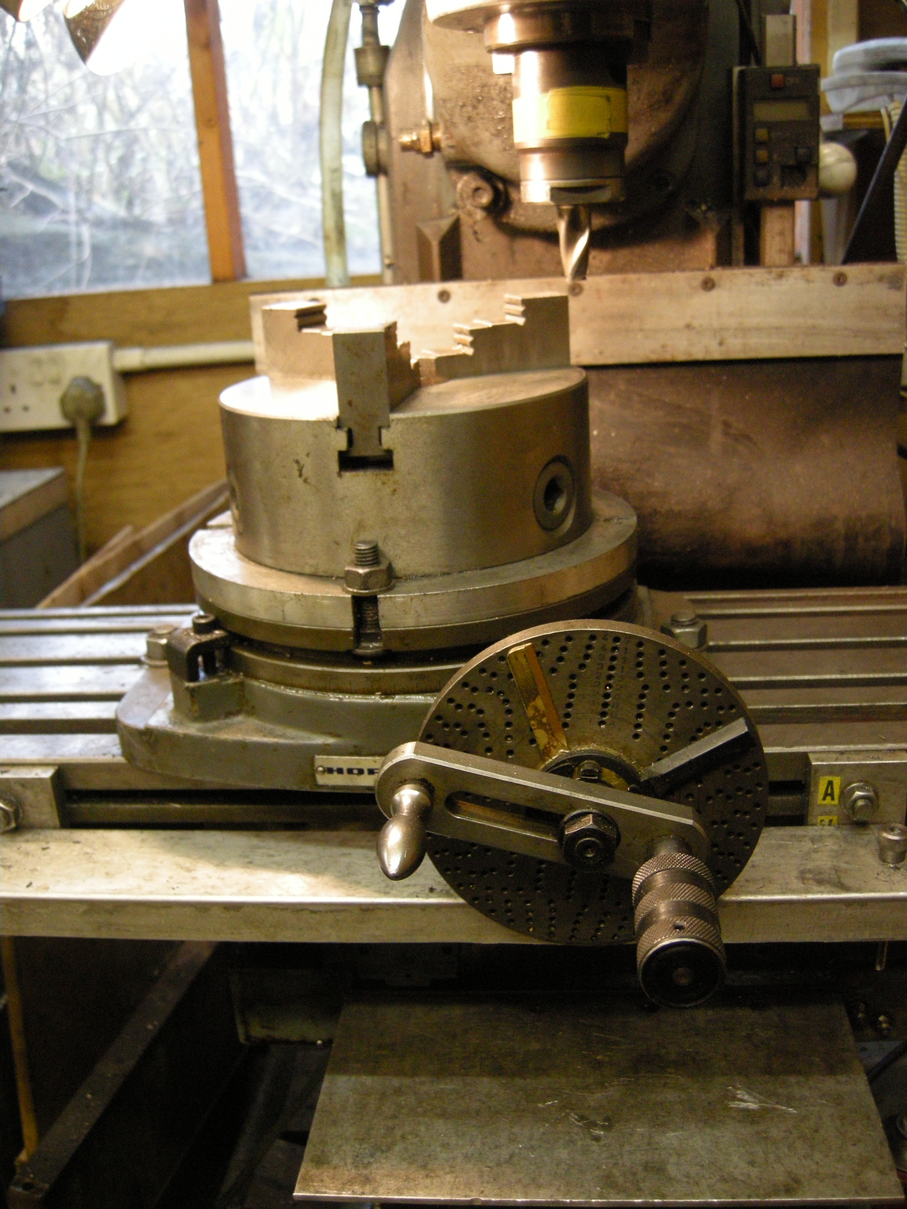 Rotary Table Holding The Workpiece John F S Workshop