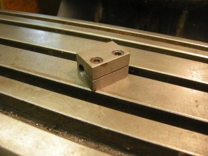 Jig for holding a coachbolt for machining 237