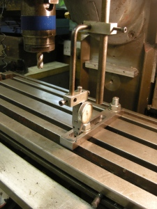 93 T-slots on a milling table