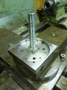 943 base bolted to fixing plate
