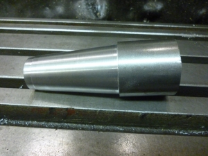 turned workpiece for flutes on a conical surface