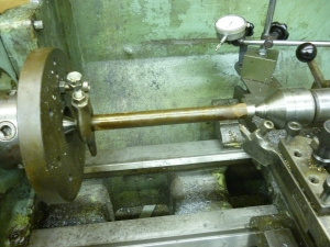 L109 making a taper by off setting the tailstock