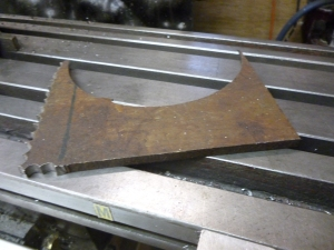 Piece of scrap steel sheet 1010