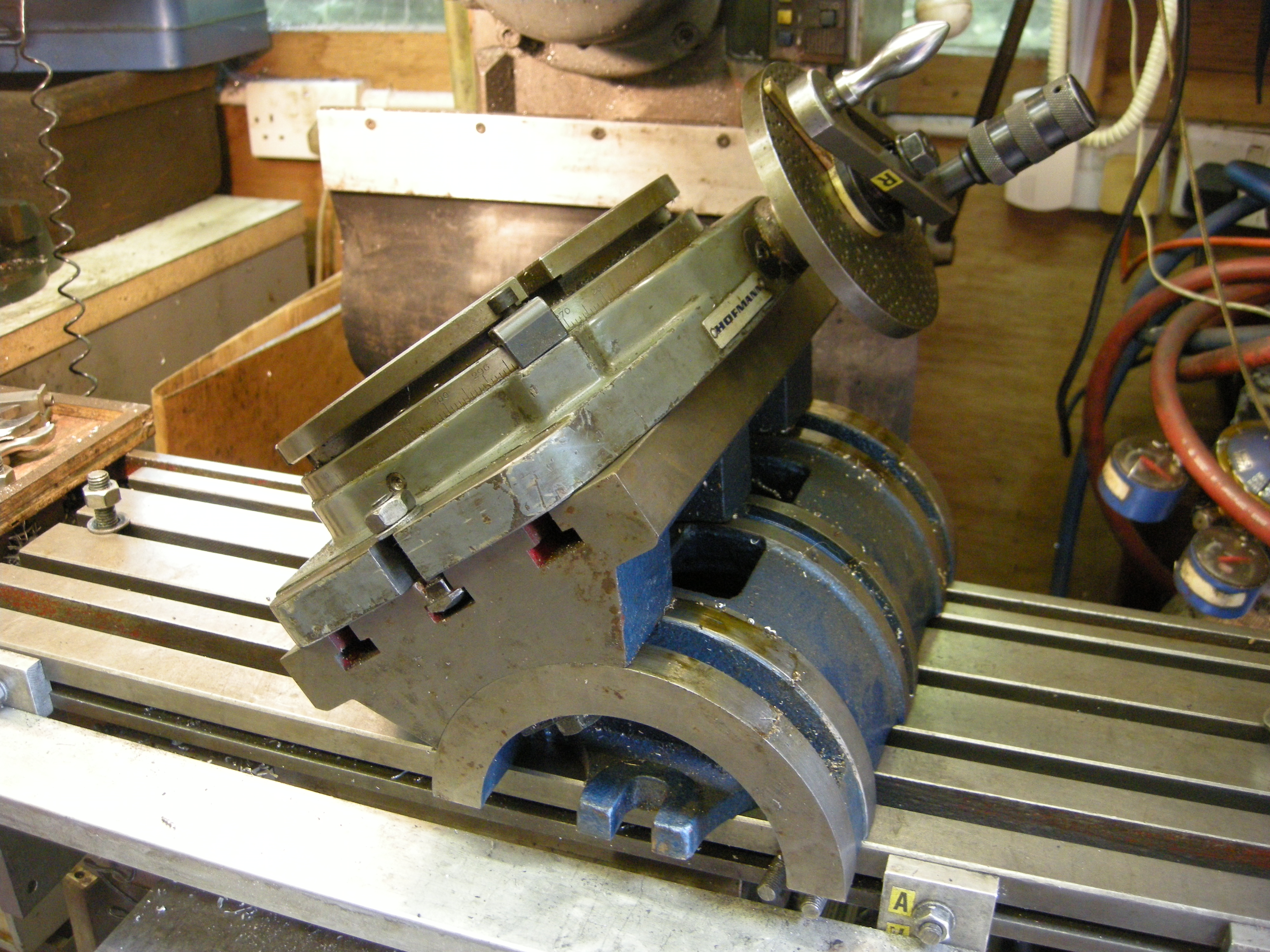 Rotary Table Tilted John F S Workshop