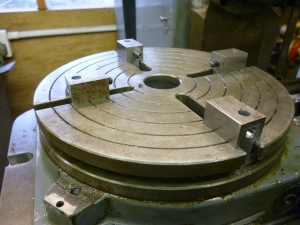 573 rotary table with side clamps