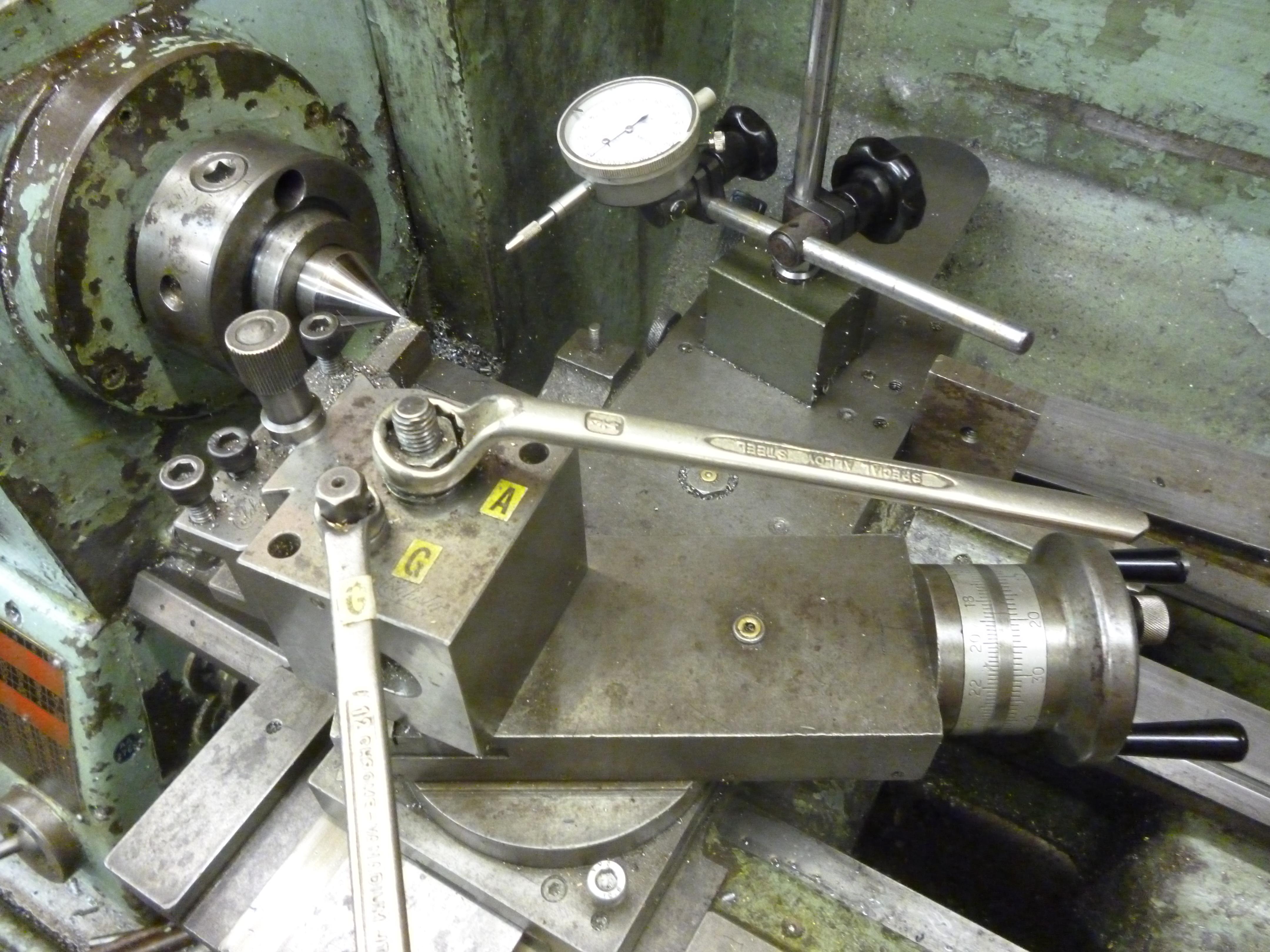 Metal Alignment : Lathe alignment etc aligning the john