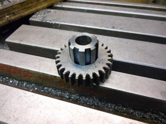411 spline with gear