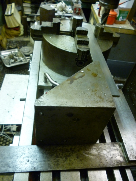 510 aligning four jaw chuck
