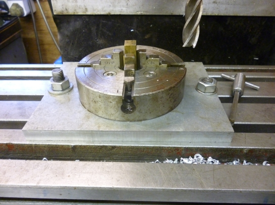 735 small four jaw chuck fixture
