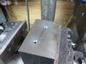 2407 center drilling cylinder block